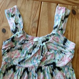 Lucy and Laurel xs watercolor flowy dress